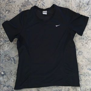 Nike black fitdry workout top